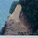 Ein riesiger Felsabbruch bei Sisikon.