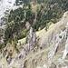 Skurrile Felsformationen in der Südflanke