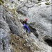 Abstieg durch die Südflanke, geht problemlos (T4)