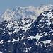 dalla cima sbuca il Monte Rosa