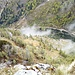 Ausblick auf den Aufstiegsweg vom Hochkogel aus gesehen