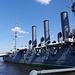 Panzerkreuzer Aurora, der den Startschuss für eines des größten Gesellschaftsexperimentes des 20 Jahrhundert abgab.