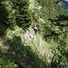 """[u Lena] in der wilden, einsamen Welt des Jägersteigs. Immer noch ein """"Geheimtip"""" und eine unserer Lieblingsrouten im Appenzeller Alpstein."""