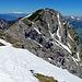 hier stehe ich noch unten am Fels mit Blick in Richtung Norden, im Hintergrund der Alpstein