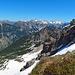 hier stehe ich noch unten am Fels mit Blick in Richtung der Hochkünzelspitze