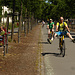 große Fahrradkünstler rollen durch`s Städtchen