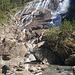 la cascata di Grawa nel pomeriggio
