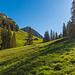 Ein erster Augenschein des begehrten Grates kurz vor der Alp Birchboden
