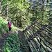 Schöner Bergweg nach Oberdamüls