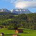 auf der Hinfahrt zwischen Appenzell und Gonten fotografiert, - tolle Morgenstimmung