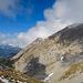Blick zum Tomlishorn beim Aufstieg zum Matthorn. Der SW-Grat ist schon zu erkennen.