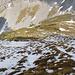 Weiche Schneereste in der NW-Flanke erschweren den Aufstieg zum Matthorn ein wenig