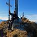 auf dem Gipfel war es saukalt mit starkem Wind.