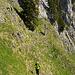 Kurz vor Erreichen des Griggelisattels. Die zwei Berggänger oben links kommen vom Haggenspitz her, unserem nächsten Ziel.