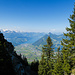 Im Griggelisattel eröffnet sich ein Blick zum Vierwaldstättersee