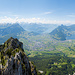 Panorama vom Kleinen Mythen aus in Richtung Schwyz