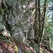 Erste Felsstufe im Aufstieg.