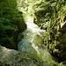 Blick nach unten in die Gorges de l'Areuse von der Brücke