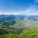 Panorama Mythenmatt. Links Wyss Nollen und Geisstock.