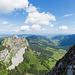 Panorama beim Einstieg zum Kamin in Richtung Kleiner Mythen und Haggenspitz