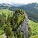 Diesen schönen Felszahn (P.1491) kann man auch besuchen