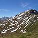 Rückblick vom wenig prominenten Gipfel des Feil zum Curvér Pintg