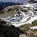 Notare da questa foto i vari punti di ritiro del ghiacciaio con il passare degli anni, qui era pieno di ghiaccio