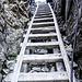 Die Leiter zur vor dem Chemmi-Sattel