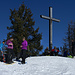 Die vier Damen auf dem Gipfel des Großen Ochsenkopfs