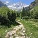 toller Weg Richtung Hochgebirge