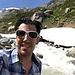 Es ist heiss und ich bin froh um eine Abkühlung im Bergbach