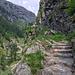 Treppen in Stein gehauen