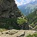 Wieder Rückblick, fast am Zwischenziel angelangt, der Staumauer des Lago di Montespluga