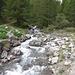 Schmelzwasserabfluss nahe dem Ausgangspunkt.