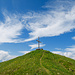 Gipfelkreuz Wandelen vor ästhetischem Himmel