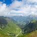 Panorama beim Aufstieg zum Heitlistock in Richtung Chalbertal und Melchtal. Links der Arnigrat.