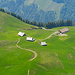 Tiefblick zur Alp Chlister
