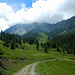 Die weite Karmulde der Wies liegt eingebettet zwischen Loisch- und Alpilakopf