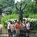 La statua di Rocky Balboa, molto gettonata per le foto