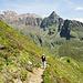 Blick hinüber zu den Bergen, in denen Ötzi unterwegs war