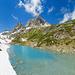 Nidersee mit Sunnig und Mäntliser. Die SAC Leutschachhütte ist auch schon zu erkennen. (Panoramaaufnahme)