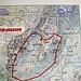 In Scharmoin habe ich keinen Wegweiser für diese Route gesehen. Die Markierung des kartierten Pfades ist aber nicht zu übersehen