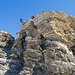 Abseilen vom Gipfelkopf