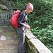 Monica sul ponte di Forno.