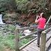 Fotografando la cascata dal ponte di Cornavosa.