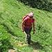 In salita verso l'Alpe Fumègna.