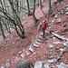 Gradini sul sentiero che discende la Val Cornavosa.