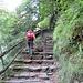 La risalita di questa scalinata è la ciliegina finale per questa gita.
