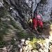 ... den Durchstieg durchs steile Felscouloir erleichtern