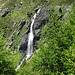 Wasserfall beim Aufstieg zur Hütte